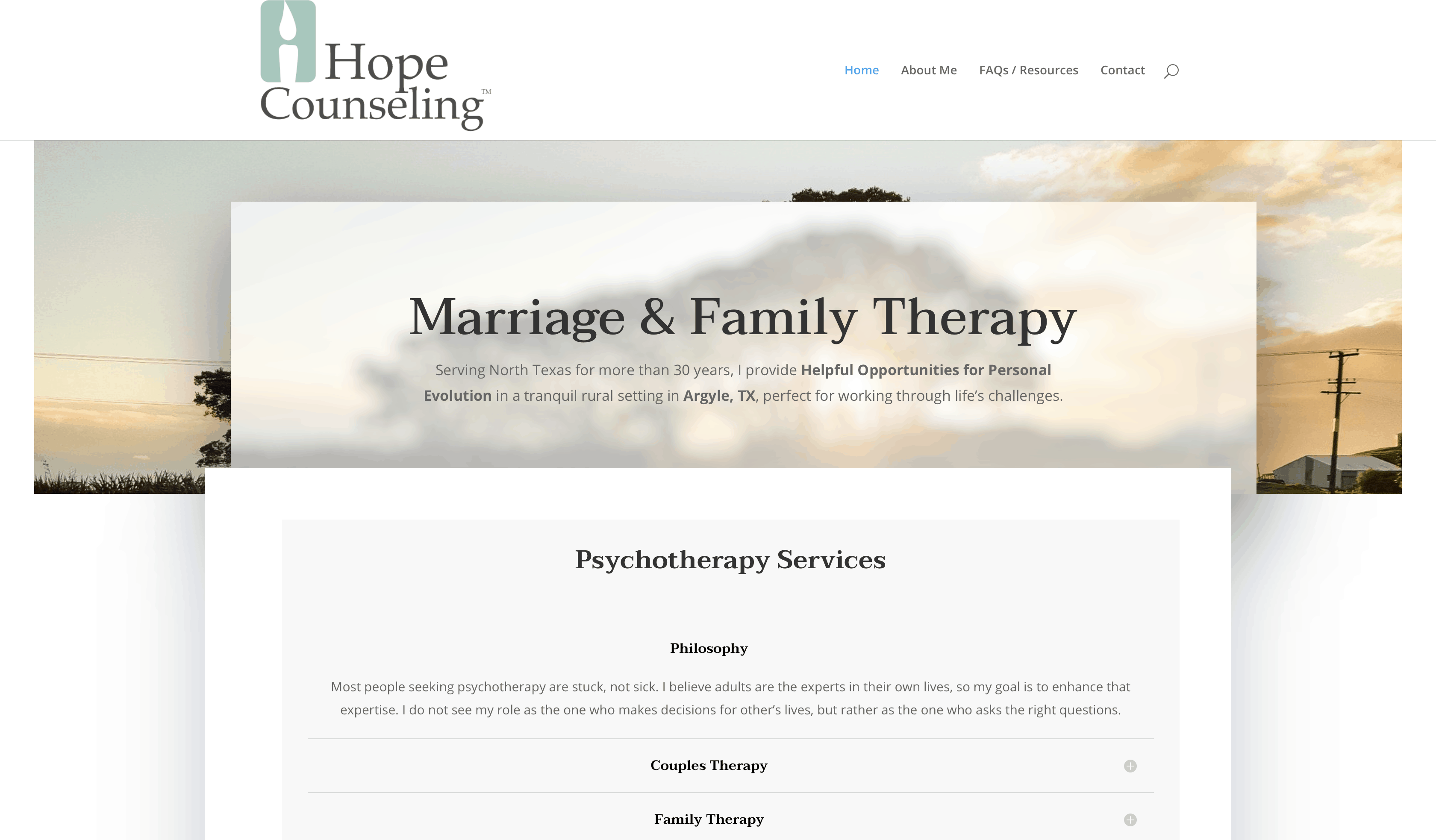 hope counseling home page
